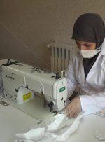 تولید ماسک بهداشتی در مرکز فنیوحرفهای مسجدسلیمان