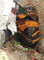 تصادف کامیونها در اندیمشک