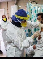 کارکنان بخش ICU بیمارستان ایذه واکسن کرونا تزریق می کنند