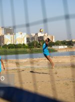 حضور نماینده خوزستان در مسابقات والیبال ساحلی کارگری کشور